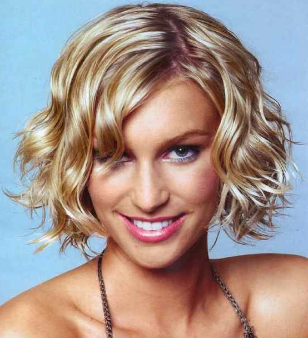 Short hairstyles for thick wavy hair short curly bob pinterest