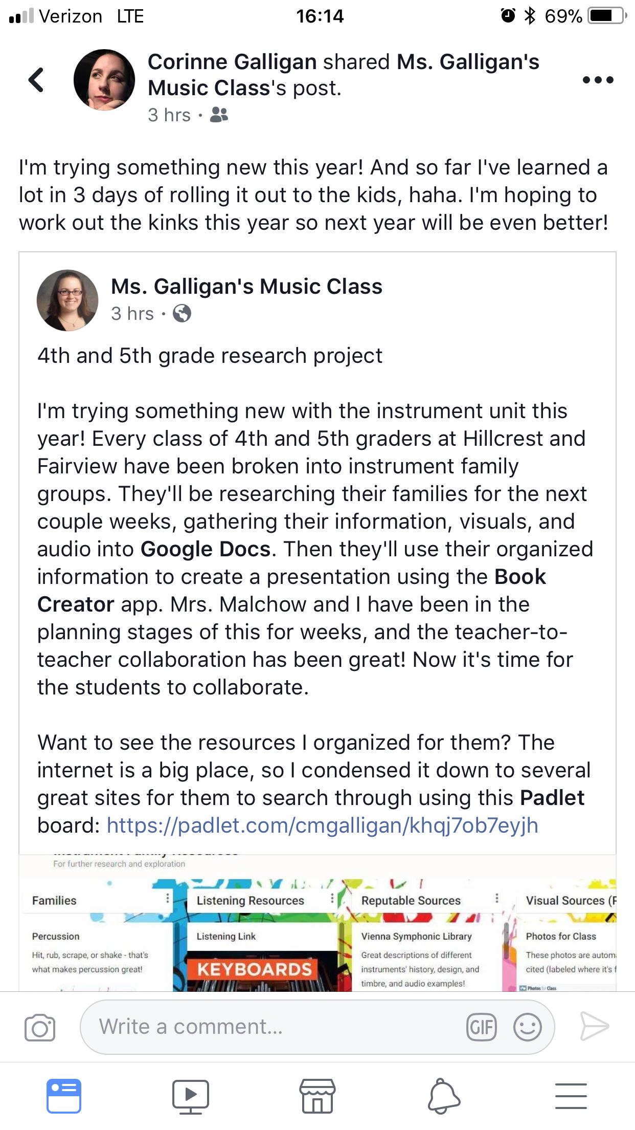 Instrument Families Activity