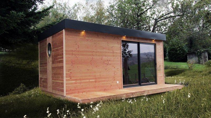 achat tiny house | Studio de jardin chalet bois | Pinterest ...