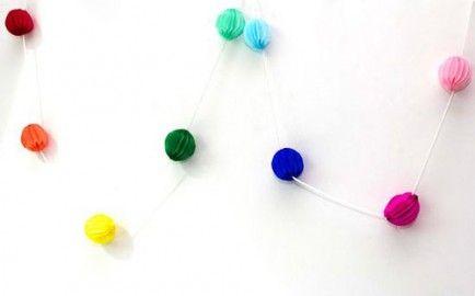 10 DIY Honeycomb Ball Party Crafts
