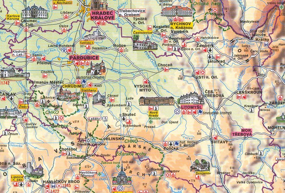 Mapa Pardubickeho Kraje Www Easyfurn Cz World Map Vintage World