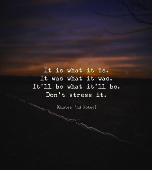 Life Quotes It Is What It Is It Was What It Was Itll Be What It