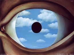 El falso espejo - Rene Magritte, 1928