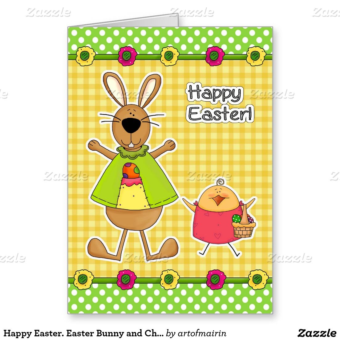 Happy Easter Easter Bunny And Chick Cards Pinterest Funny