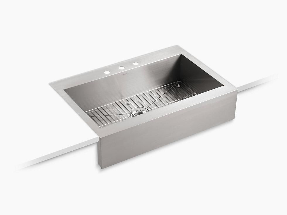 Kohler Vault 35 3 4 Stainless Steel A Front Kitchen Sink