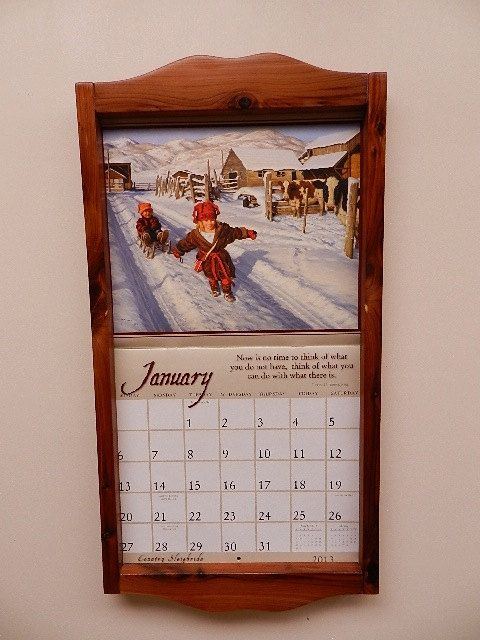 Calendar Holder Calendar Frame By WinterroseWoodwork On Etsy