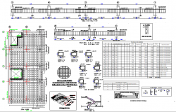 Beam Plan And Section Detail Autocad File