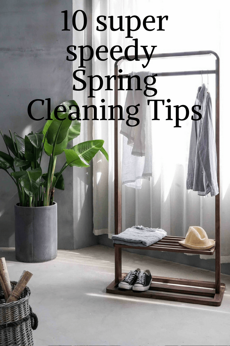 Speedy Spring cleaning tips so you can get on with something much more fun. Quick cleaning hacks are what you need!   #cleaningtips  #cleaninghacks#springcleaning #springclean #clean #tidy#cleaning