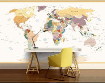 Education world map vinly wall mural kids world map self adhesive education world map vinly wall mural kids world map self adhesive vinly gumiabroncs Image collections