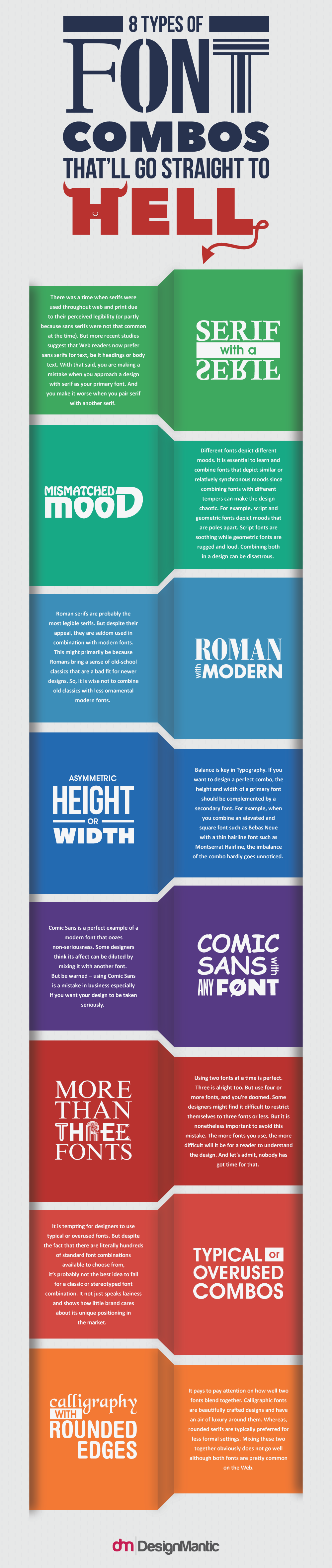 Infographic: Eight Types Of Font Combos That Don't Go Well Together
