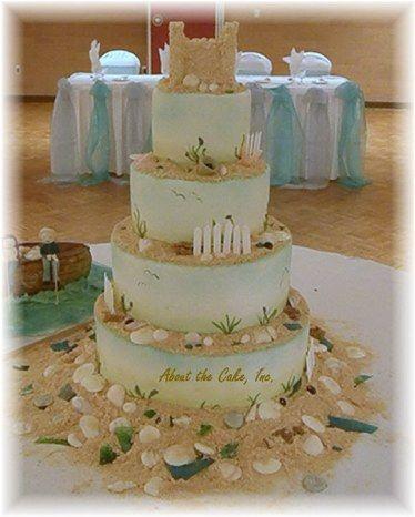 beach-wedding-cake-1.jpg 374×466 pixels   Melissa\'s Wedding Ideas ...