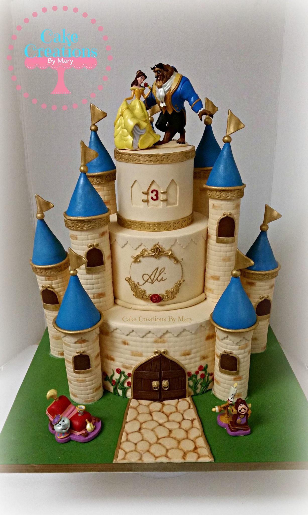 Beauty and the Beast Castle Cake Cake Castles Pinterest