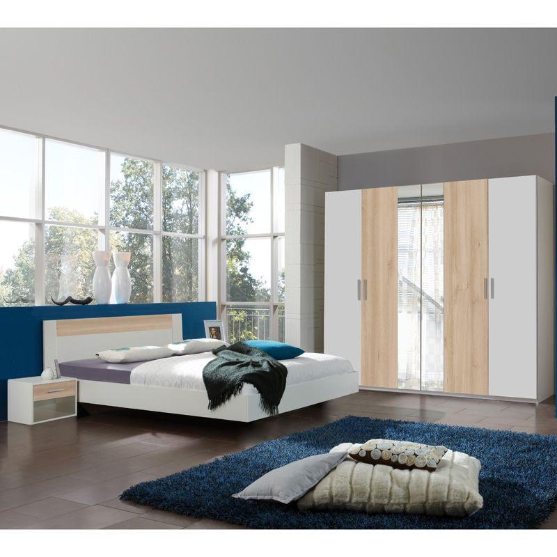 e-combuy Angebote Schlafzimmer Set ILONI166, Alpinweiß, Edelbuche