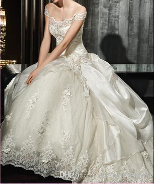 Vintage Victorian Ball Gown Wedding Dress by bridaldressfactory XD ...