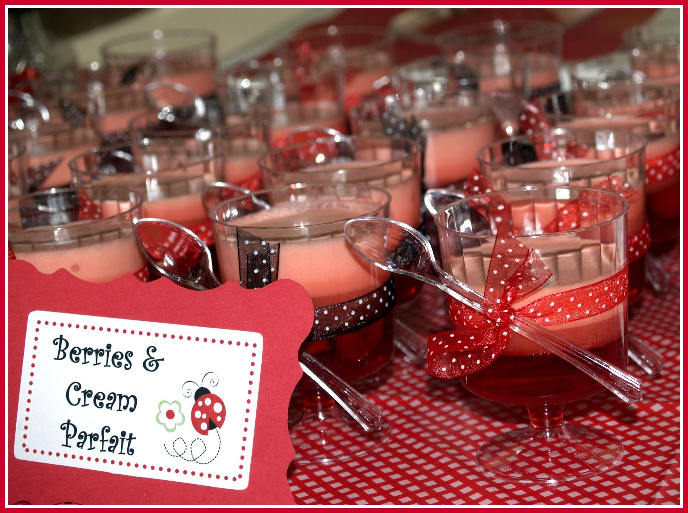 label ideas - Ladybug Baby Shower Decorations