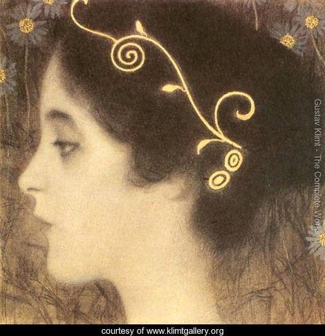 Sketch for the Allegory 'Junius' (detail) - Gustav Klimt - www.klimtgallery.org-Gustav Klimt