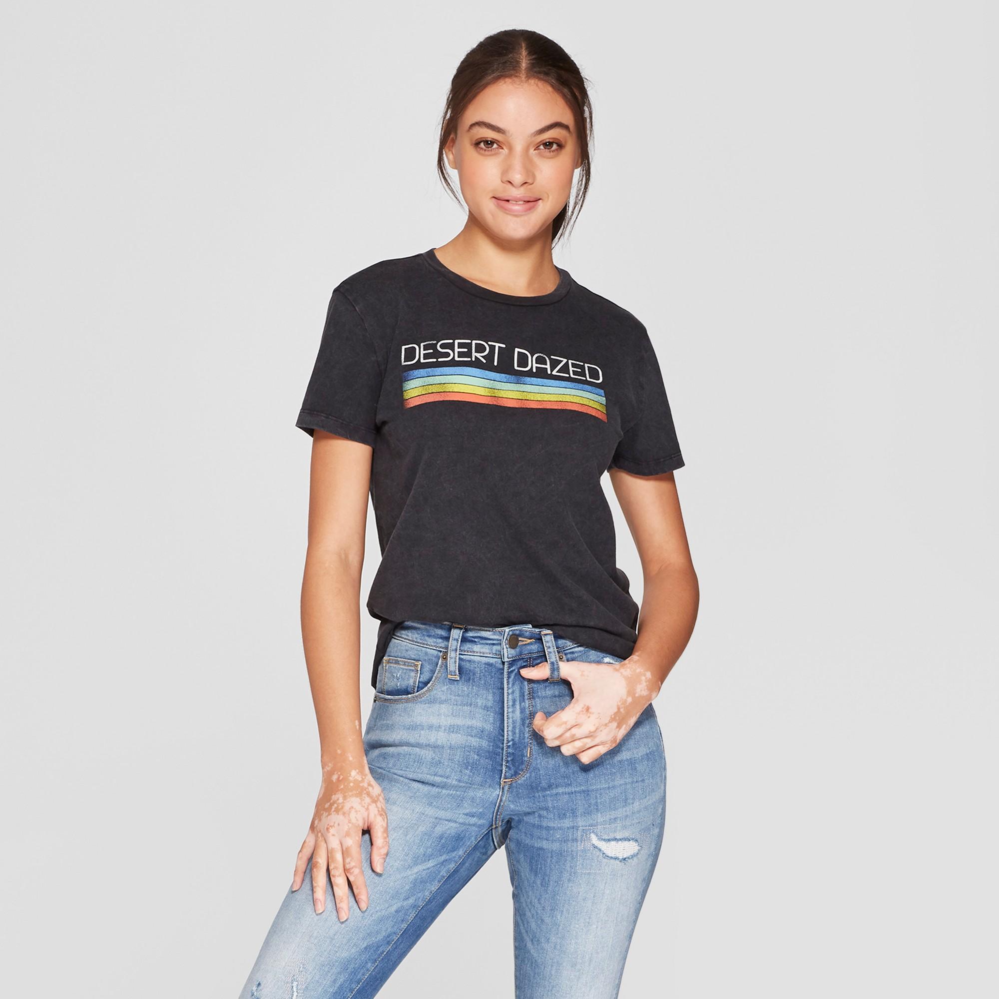 b14e5776d5fb08 Women's Short Sleeve Desert Dazed Graphic T-Shirt - Mighty Fine (Juniors')  Black Xxl