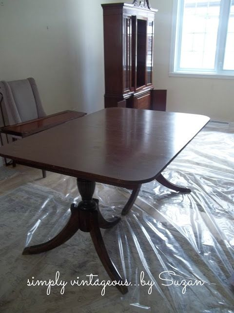 Painted Antique Dining room table living spaces Pinterest