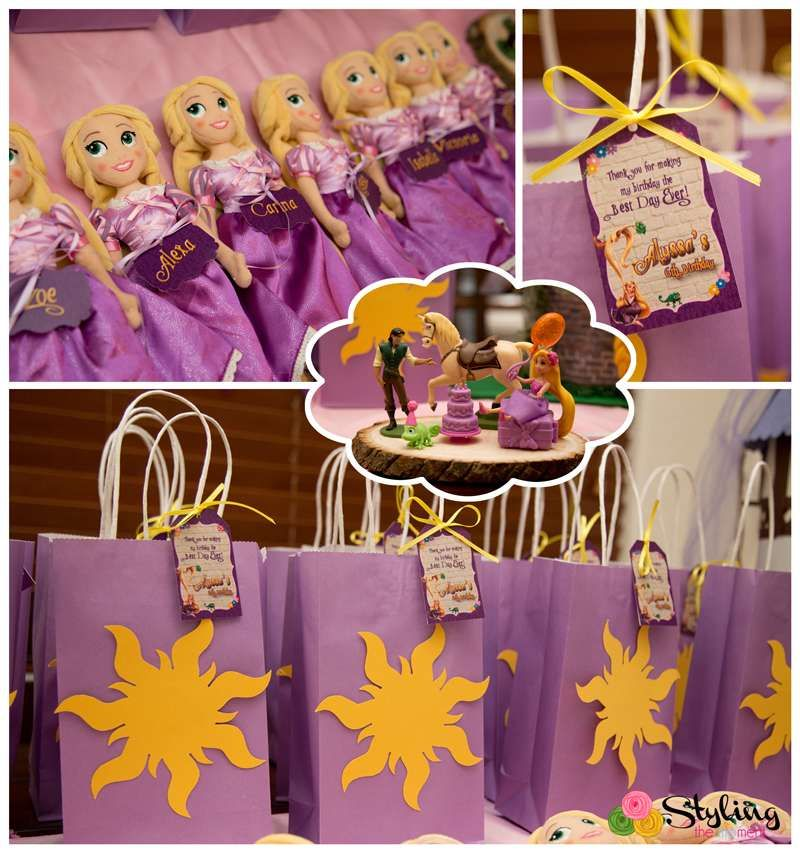 Favors At A Tangled Birthday Party See More Ideas CatchMyParty
