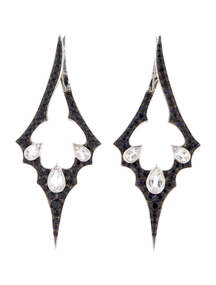 Stephen Webster // White Gold September Sapphire Earrings ...