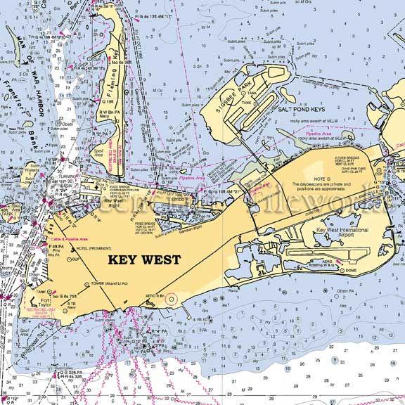 Florida Key West Nautical Chart Decor Key West Nautical Chart Decor Florida Key