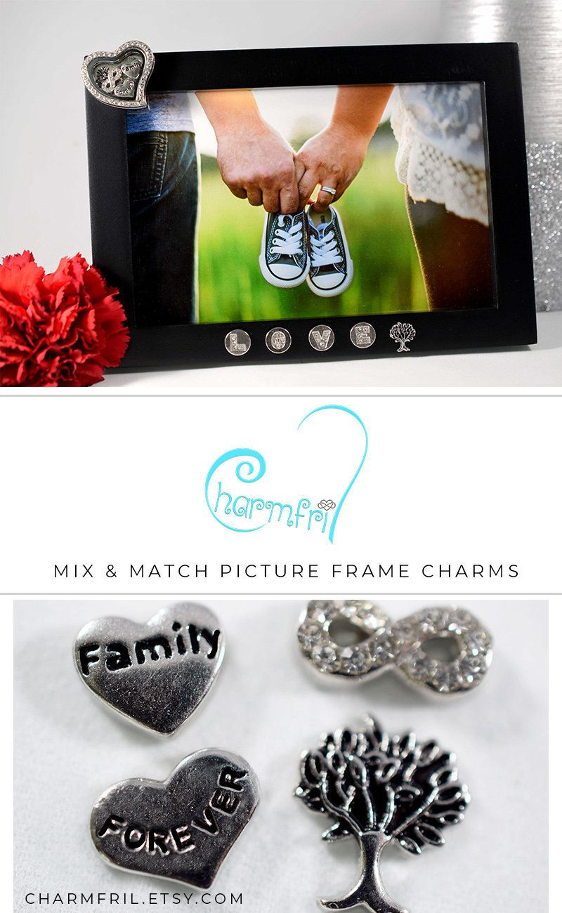 Family Picture Frame, Family Floating Charms, Picture Frame Locket ...