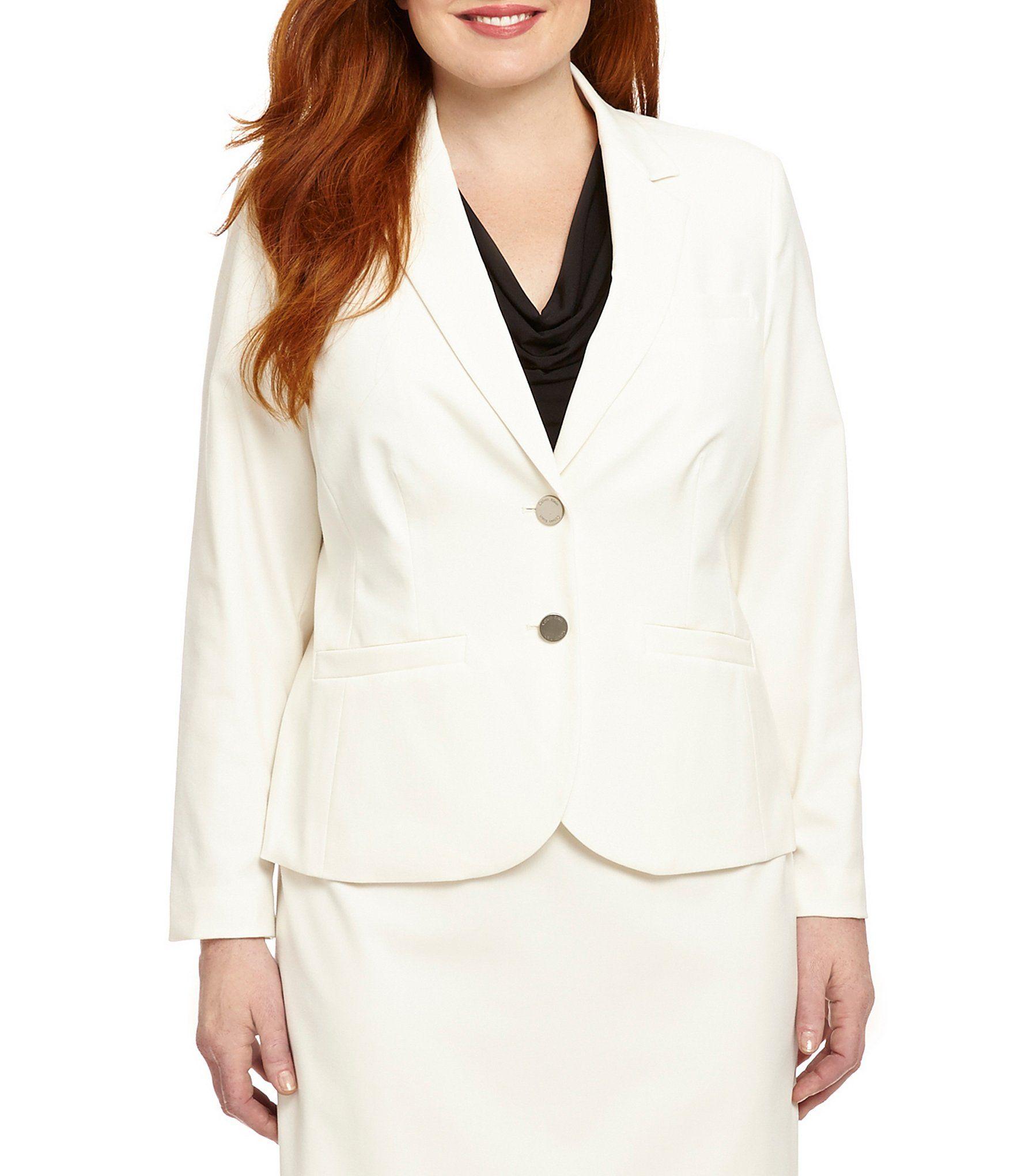 Calvin klein plus 2button suit jacket jacket over dress