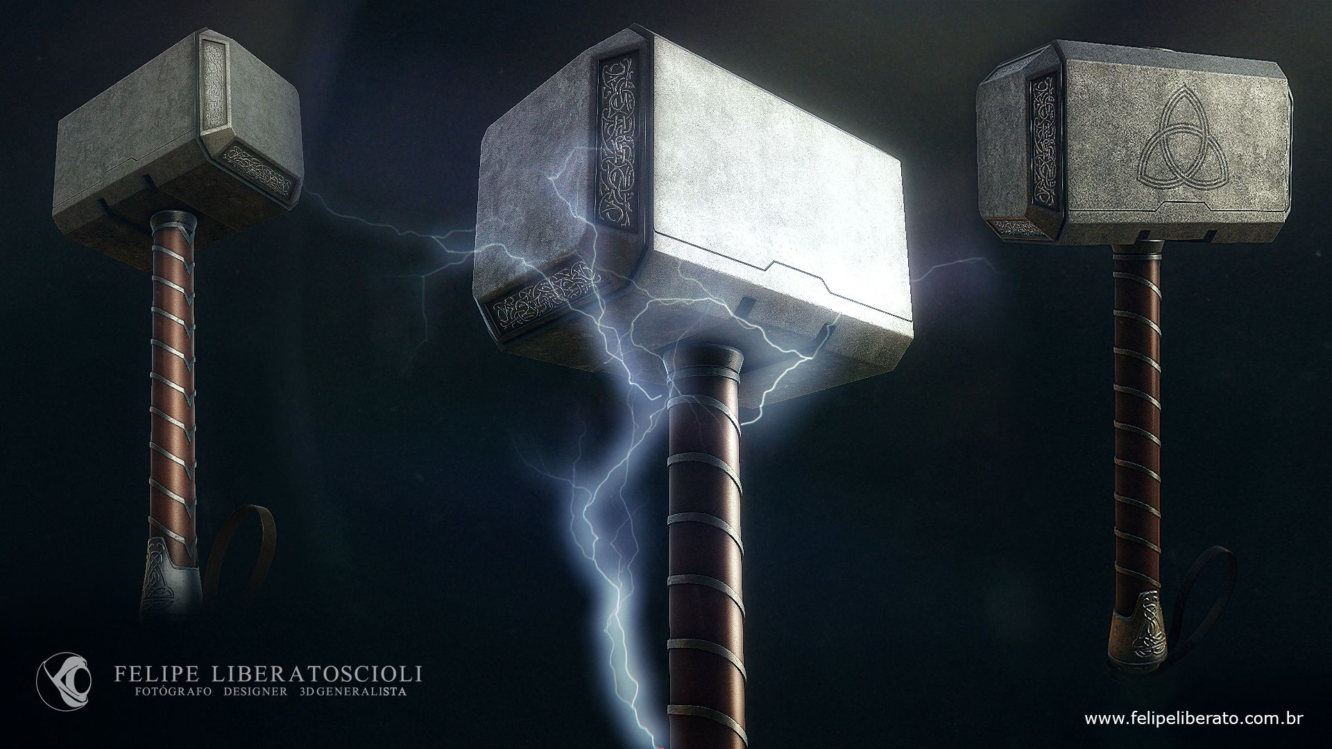 Thor Hammer modeling in maya and textured in quixel suite.