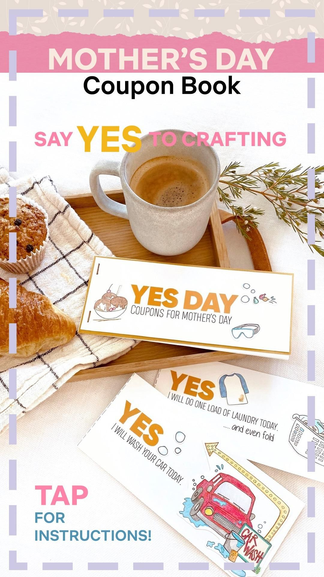 Mother's Day YES DAY Coupon Book