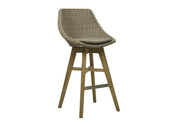 Globewest Noosa Backrest Barstool Indoor Outdoor Furniture