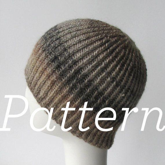 Knit Hat Pattern Twisted Rib Reversible Hat Pattern Only Etsy Hat Knitting Patterns Hat Pattern Knitting Patterns