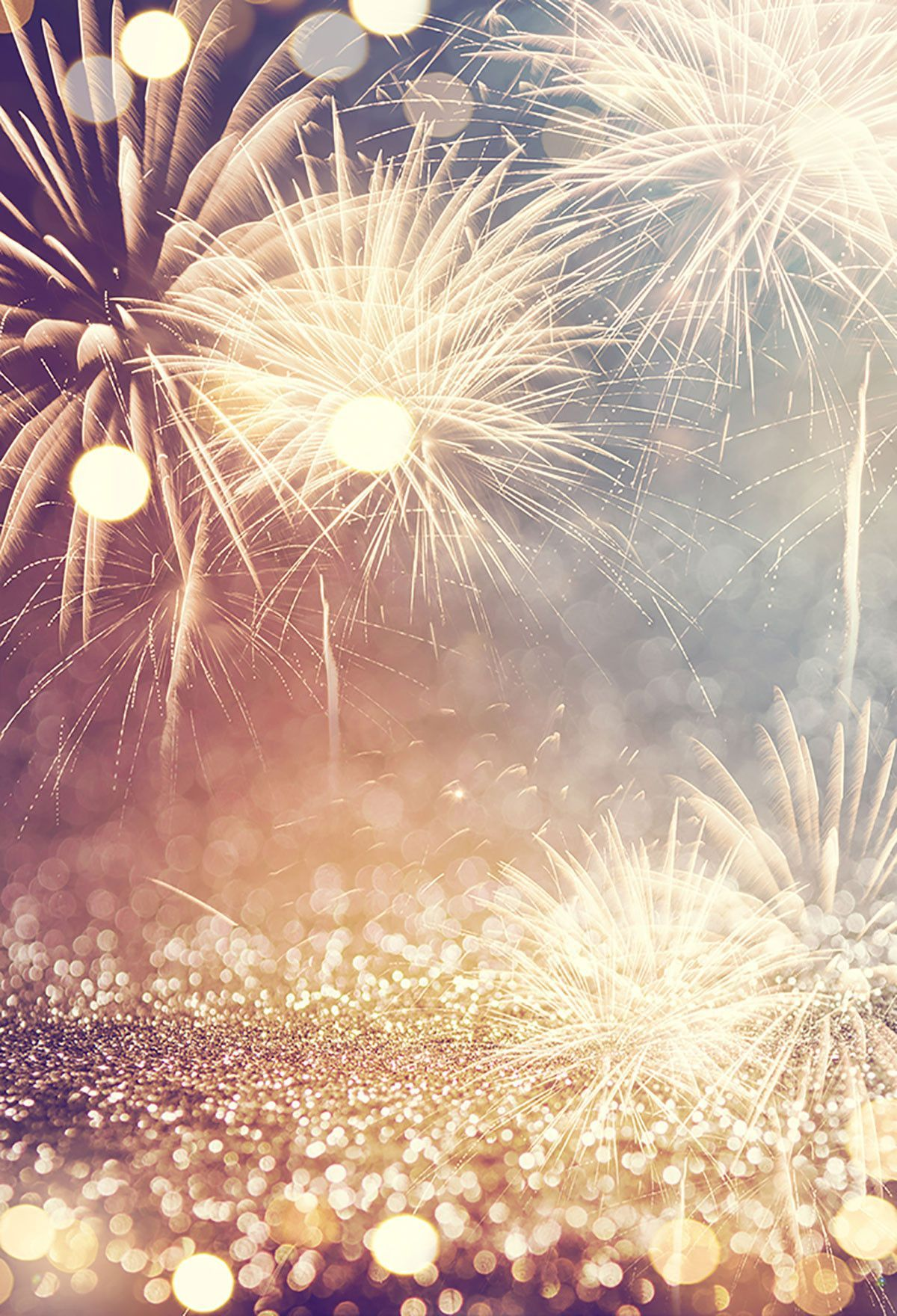 Bokeh Blurred Backdrops Fireworks Background Diy Backdrops