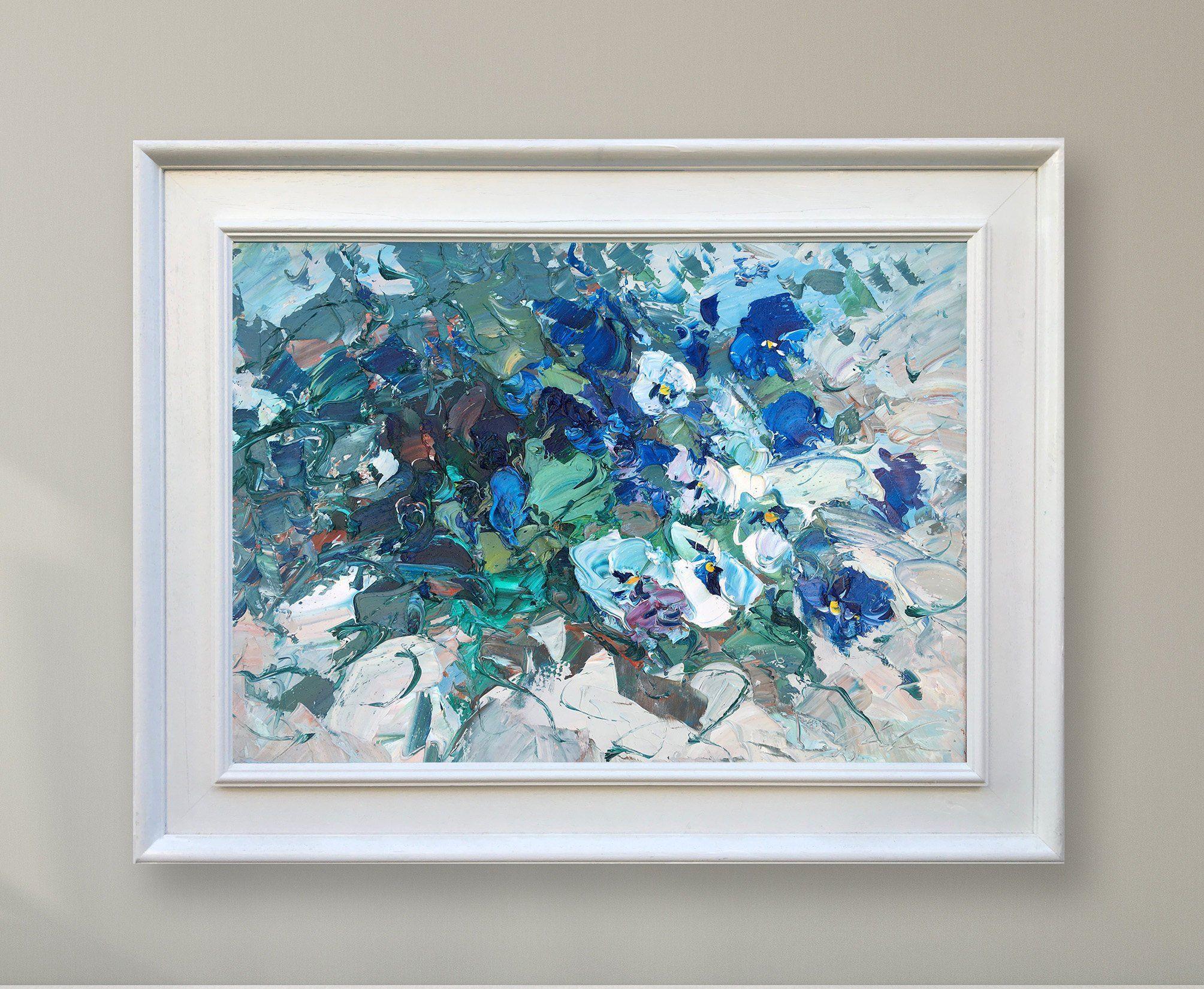 Resultado de imagen para blue floral canvas wall art andres castro