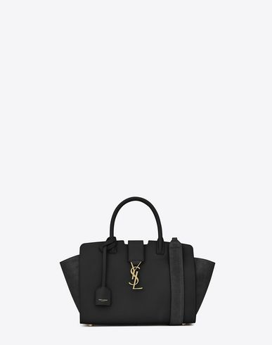 0172b7a2dac SAINT LAURENT Baby Downtown Leather And Suede Cabas Bag In Black. # saintlaurent #bags #shoulder bags #hand bags #suede #