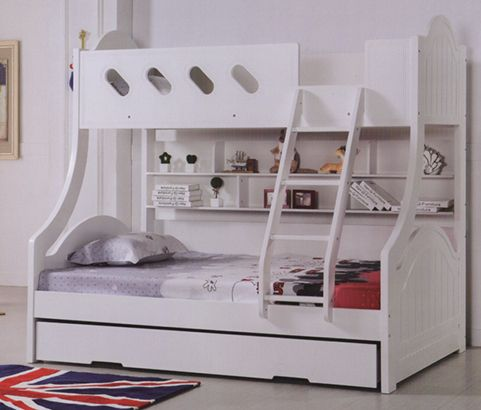 Chloe Single Over Double Bunk Bed Bunk Beds Bunk Beds With Stairs Cool Bunk Beds