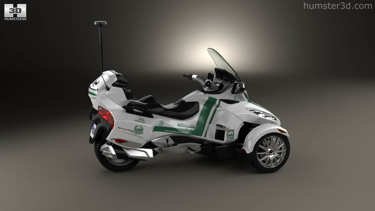 Brp can am spyder police dubai 2014 3d model
