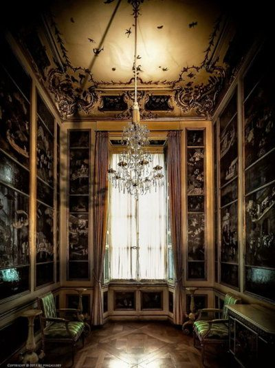 A very dark and goth dressing room  Interiors Gothic