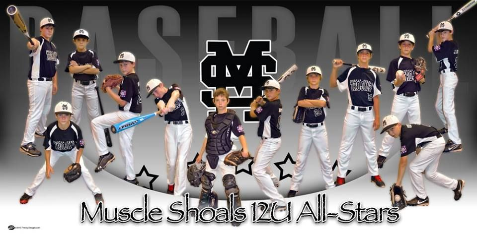 Custom Baseball Banner Muscle Shoals 12u All Stars Frenzy Designs Baseball Banner Baseball Team Pictures Baseball Team Banner