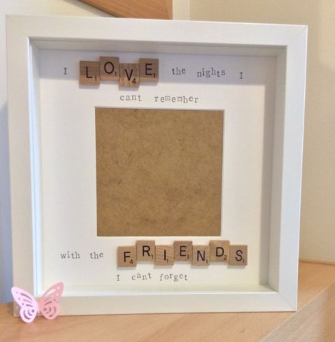 Handmade scrabble tile photo frame friends poem christmas handmade scrabble tile photo frame friends poem sciox Image collections