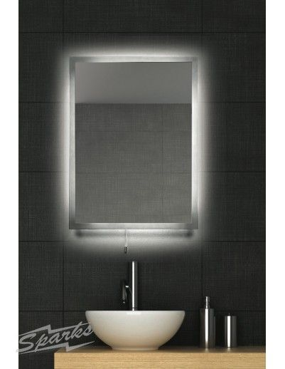 New IP44 LED Backlit Bathroom Mirror with Demister Pad and Pull Cord Switch 48 x 0 07W LED brilliant for a modern bathroom Unique - New bathroom mirror light fixtures Model