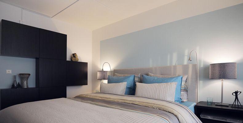 Ikea palmlilja slaapkamer met luxe hotel uitstraling apartment