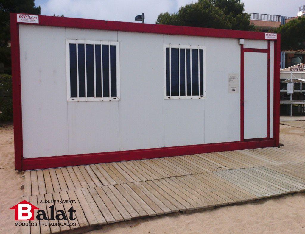 Caseta prefabricada como almac n en playa catalu a for Construccion modular prefabricada