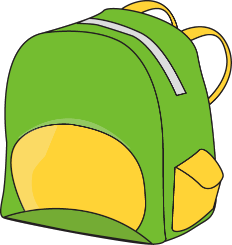 Pin By Kroberti On Back Pack Day Pins Clip Art Green Backpacks School Clipart