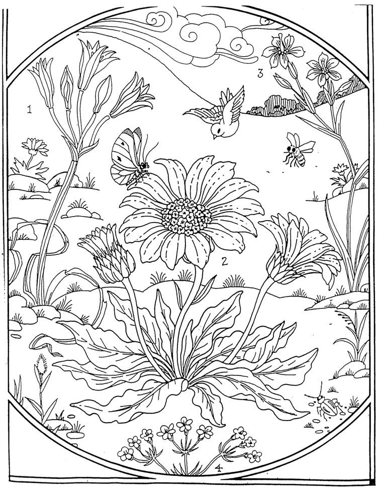 garden coloring page | Coloring Pages | Pinterest | Adult coloring ...