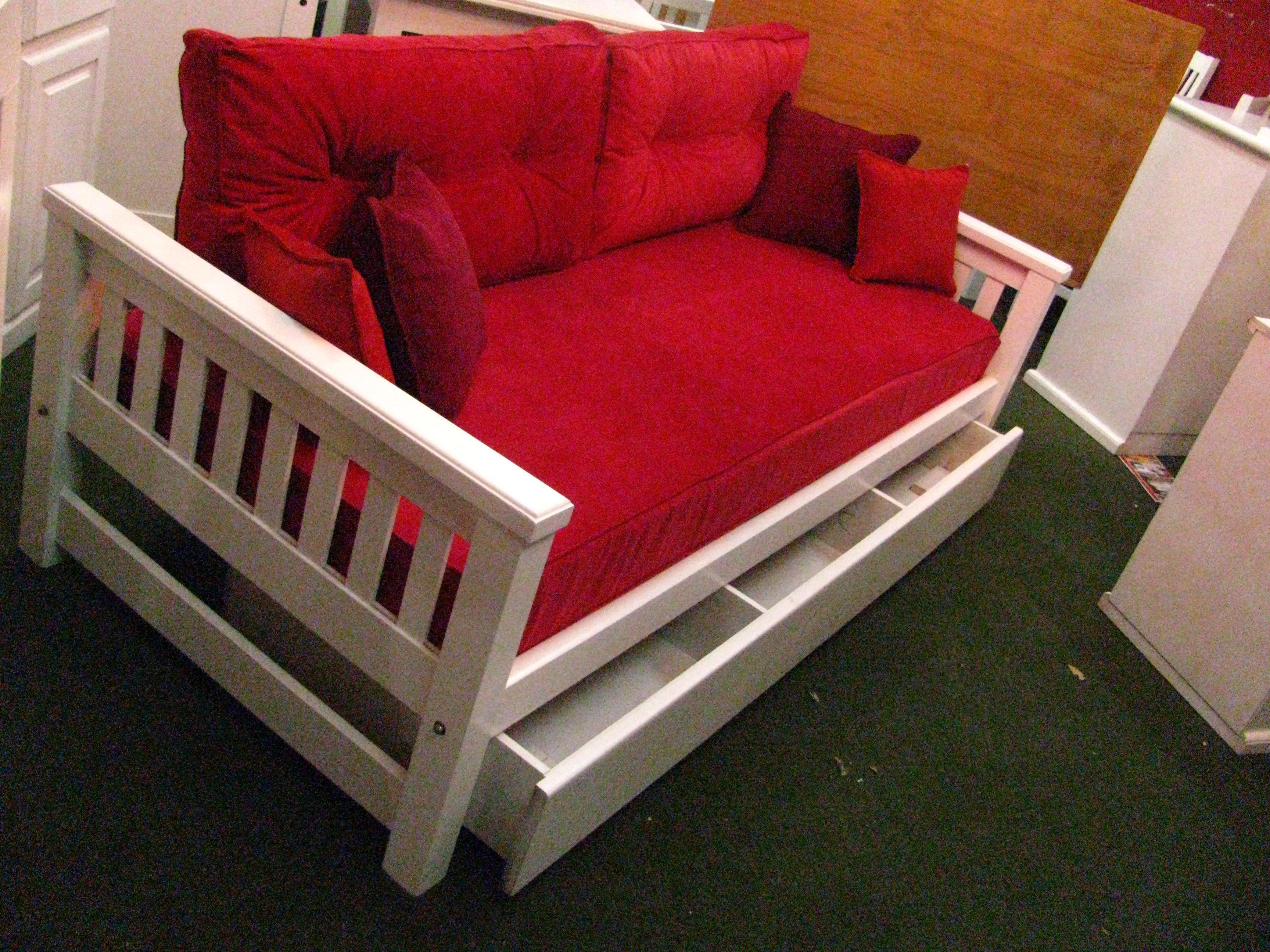 Divanes camas muebles de pino laqueados dise o de muebles - Camas supletorias y divanes ...