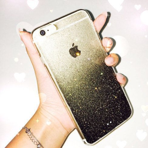black glitter iphone 7 plus case