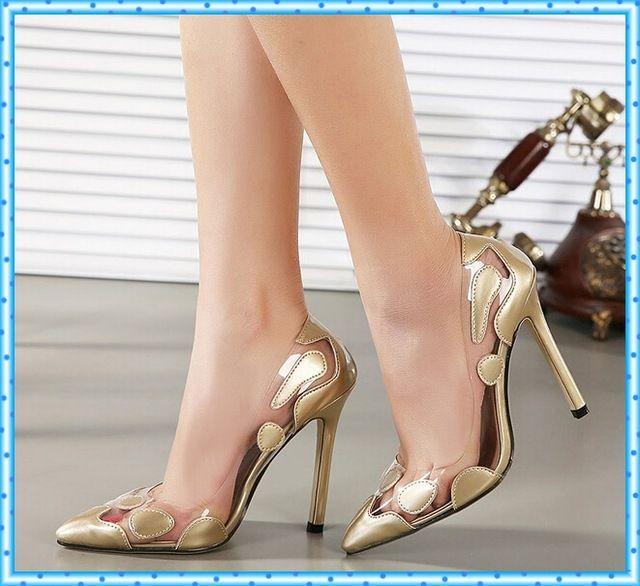 Dedo del pie puntiagudo tacones altos Para Mujer Zapatos de Boda de Las  Señoras bombas Sexy Tacones de Aguja zapatos de vestir bombas Sapato  Feminino ... 15c299399f71