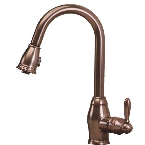 Pegasus Newbury Single-Handle Pull-Down Sprayer Kitchen Faucet in ...