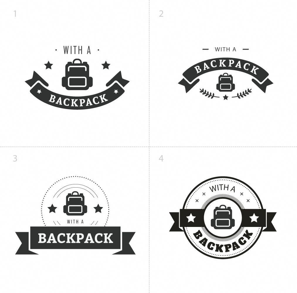 Logo Design For Travelling Company With A Backpack Logo