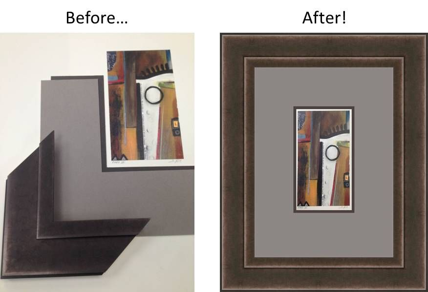Check out this great Foundry #Frame #Design!  The brown undertones in the #moulding work so well with the #artwork.  What do you think??  Check out our Frame Design Tool: http://www.larsonjuhl.com/interactive-frame-design.aspx